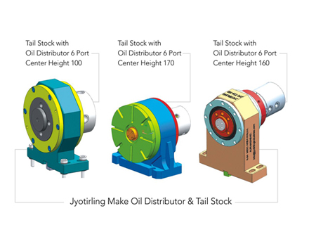 Jyotirling Make Oil distributor & Tail Stock